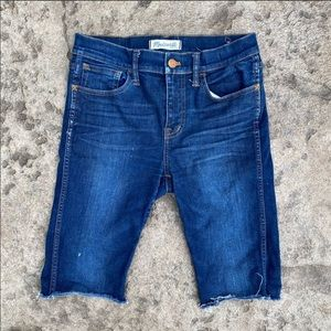 Madewell High Riser Skinny Bermuda Cut Off Shorts